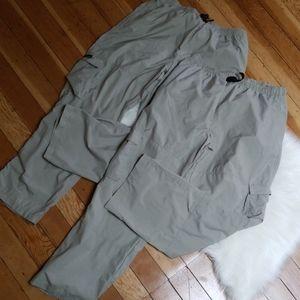 2 pair Columbia lightweight hiking pants
